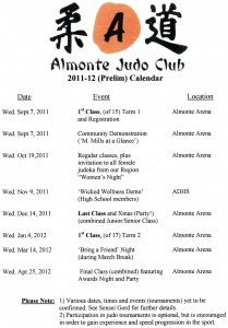 2011-12 draft calendar